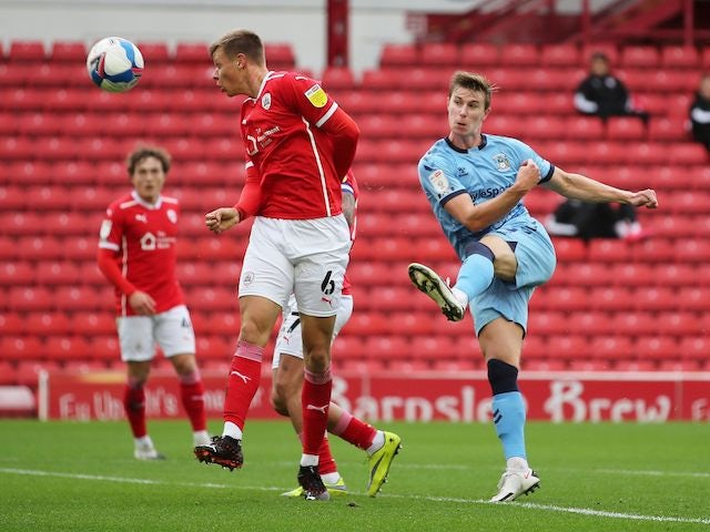 Coventry City's Ben Sheaf in action against Barnsley in the Championship on September 26, 2020