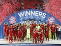 Bayern Munich celebrate winning the UEFA Super Cup against Sevilla on September 24, 2020