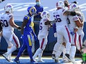 Buffalo Bills celebrate a touchdown against LA Rams on September 27, 2020