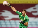 Emiliano Martinez in action for Aston Villa against Sheffield United on September 21, 2020