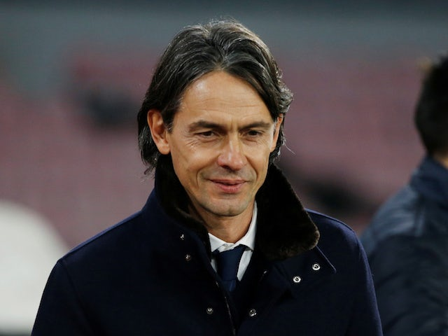 Filippo Inzaghi pictured in charge of Bologna in December 2018