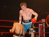 Ricky Hatton knocks down Aldo Rios in 2003