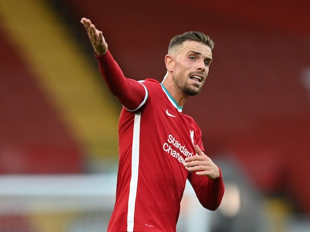 Liverpool captain Jordan Henderson pictured in September 2020