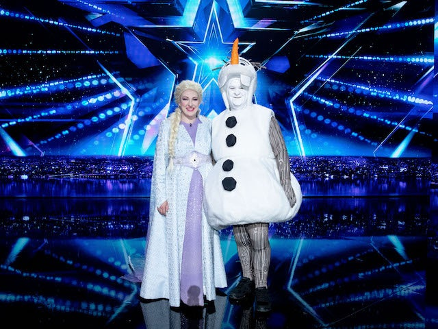 Katherine and Joe O'Malley on the fourth semi-final of Britain's Got Talent on September 26, 2020