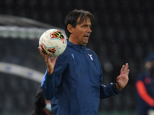 Lazio manager Simone Inzaghi pictured in July 2020