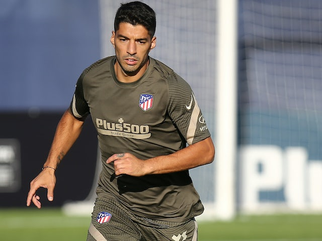 Luis Suarez in training for Atletico Madrid on September 25, 2020