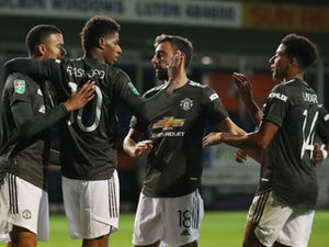 Manchester United put three past Luton Town to advance in EFL Cup