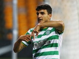 Celtic's Mohamed Elyounoussi celebrates scoring against Riga in the Europa League on September 24, 2020