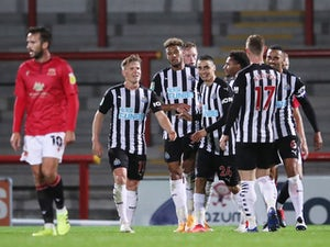 Joelinton nets brace as Newcastle put seven past Morecambe
