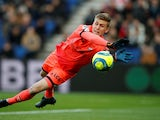 Dijon goalkeeper Runar Alex Runarsson in Ligue 1 action against Paris Saint-Germain on February 29, 2020