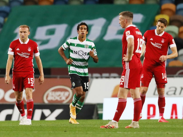 Result: Aberdeen bow out of Europa League after narrow Sporting defeat