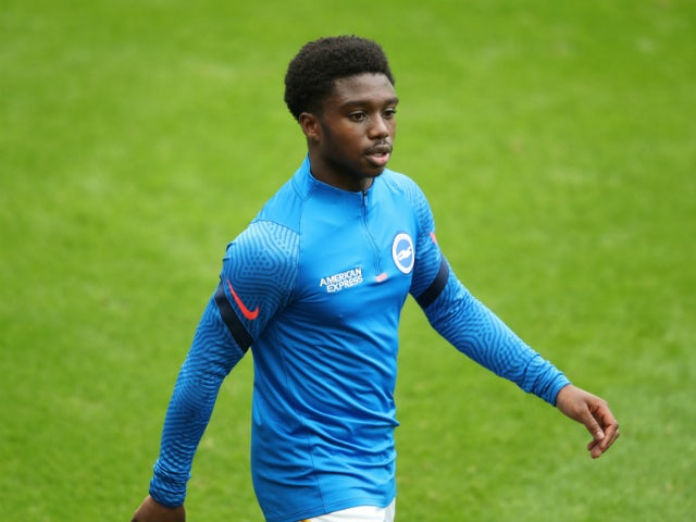 Brighton and Hove Albion defender Tariq Lamptey pictured on September 20, 2020