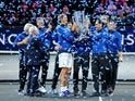 Team Europe celebrate winning the 2019 Laver Cup