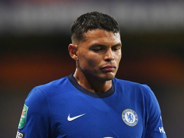 Thiago Silva in EFL Cup action for Chelsea against Barnsley on September 23, 2020