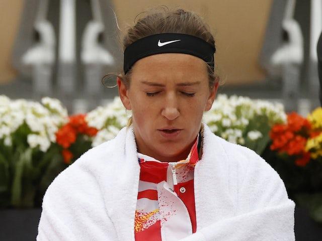 Result: Victoria Azarenka into second round despite row over
