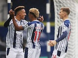 West Bromwich Albion's Callum Robinson celebrates scoring against Chelsea in the Premier League on September 26, 2020