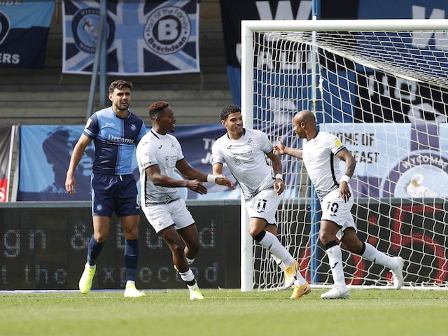 Result: Andre Ayew, Jamal Lowe score the goals as Swansea beat Wycombe