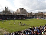 A general shot of the Recreation Ground, home of Bath Rugby, in March 2020