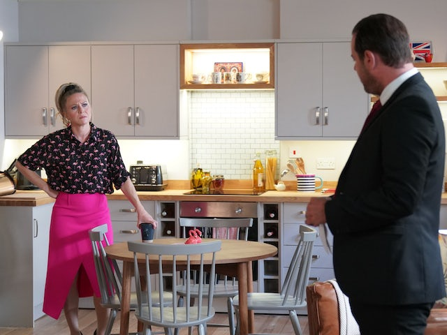 Linda and Mick on EastEnders on October 9, 2020