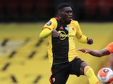 Ismaila Sarr pictured for Watford in July 2020