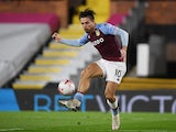 Aston Villa captain Jack Grealish pictured in action against Fulham on September 28, 2020