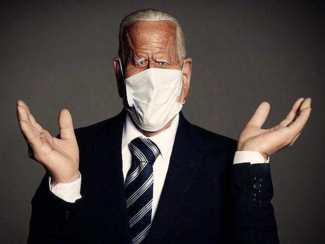Spitting Image puppet of Joe Biden