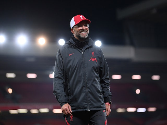 Liverpool manager Jurgen Klopp smiles after watching his side beat Arsenal on September 28, 2020