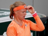 Kiki Bertens pictured at the French Open on September 30, 2020