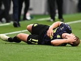 Matt Ritchie lies injured after dislocating his shoulder during Newcastle United's match with Tottenham Hotspur in September 2020