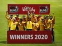 Nottinghamshire players celebrate winning the T20 Blast on October 5, 2020