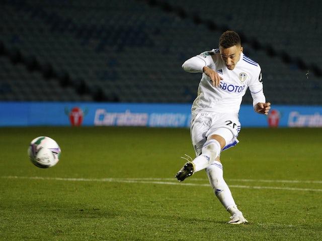 Leeds United striker Rodrigo Moreno in action in September 2020