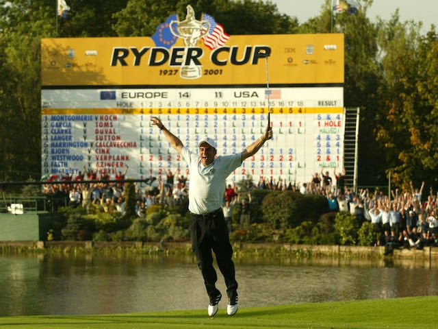 On This Day in 2002: Paul McGinley's putt regains Ryder Cup for Europe