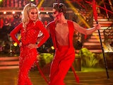 Mollie King and AJ Pritchard dancing on Strictly's Halloween week in 2017