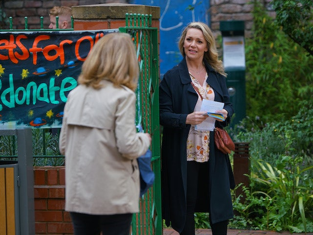 Natasha on the first episode of Coronation Street on October 21, 2020