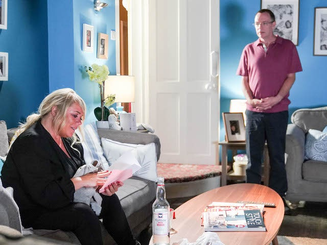 Ian and Sharon on EastEnders on October 23, 2020