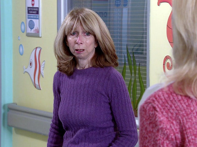 Gail on the first episode of Coronation Street on October 26, 2020