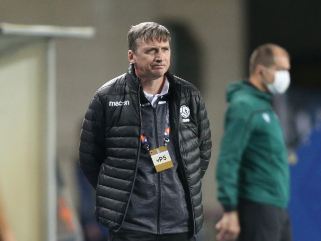 Belarus manager Mikhail Markhel pictured in September 2020
