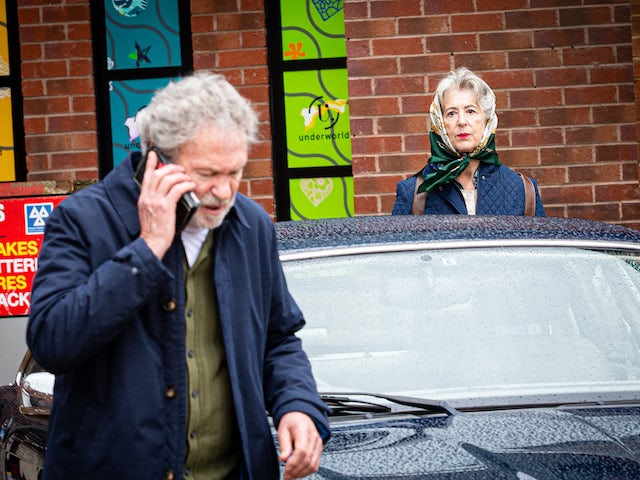 Evelyn on Coronation Street's first episode on October 14, 2020