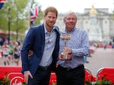 Former long-distance runner Brendan Foster pictured with Prince Harry in April 2017