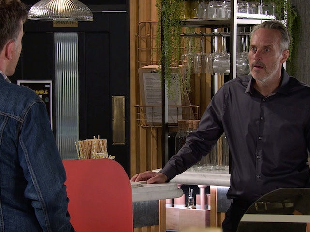 Ray on Coronation Street's second episode on October 12, 2020