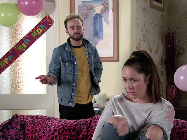 David and Shona on Coronation Street's second episode on October 14, 2020