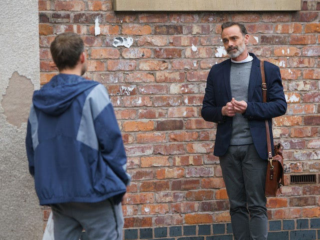 Billy on the first episode of Coronation Street on October 23, 2020