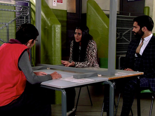 Alya and Imran on the second episode of Coronation Street on October 26, 2020