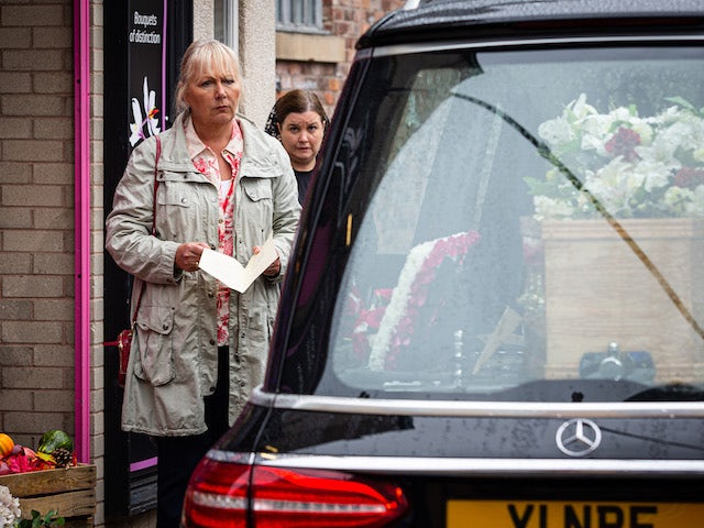 Eileen on Coronation Street's first episode on October 14, 2020