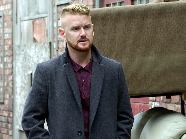 Gary on Coronation Street's first episode on October 12, 2020