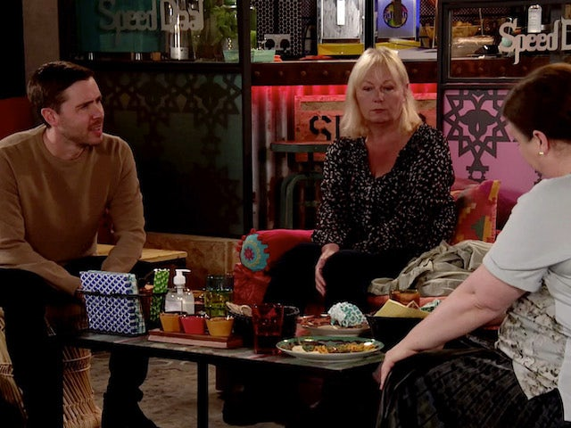 Todd and Eileen on the second episode of Coronation Street on October 26, 2020