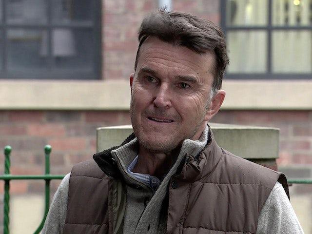 Scott on Coronation Street's second episode on October 14, 2020