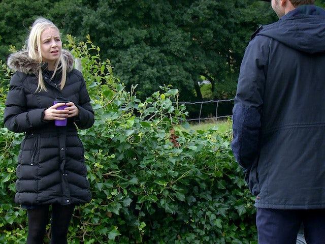 Belle on the first episode of Emmerdale on October 15, 2020