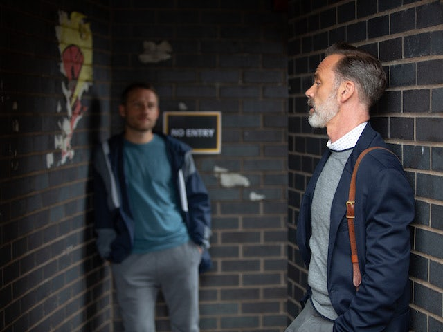 Billy and Paul on Coronation Street on October 16, 2020