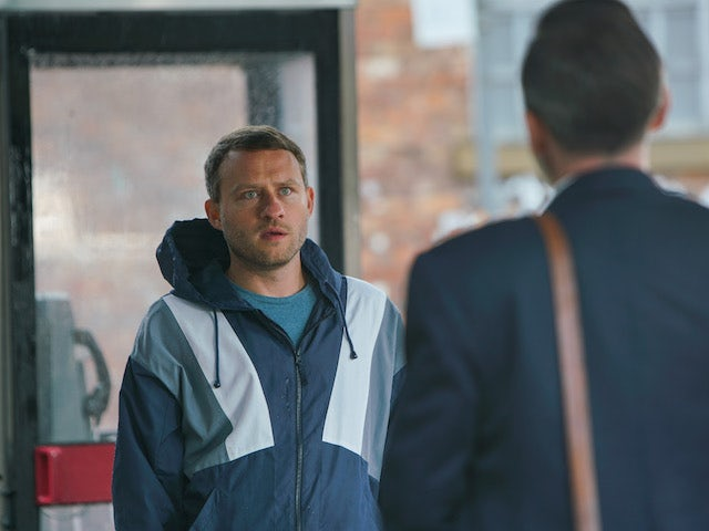 Paul on the first episode of Coronation Street on October 23, 2020